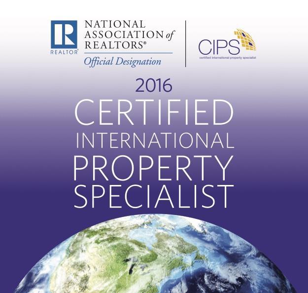 Certified International Property Specialist since 2015