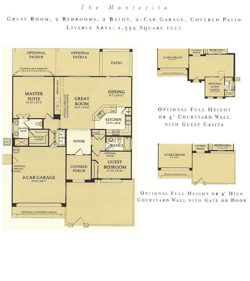 Corte Bella Montecito floor plan model