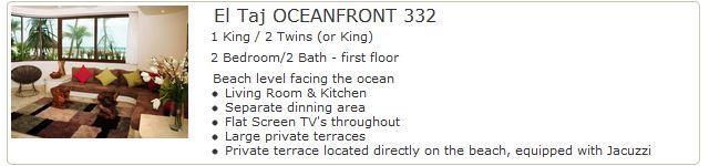 El Taj Oceanfront 332