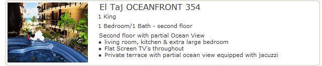 El Taj Oceanfront 354