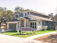 The model home in Matthew's Park in Soukth Austin 78745.