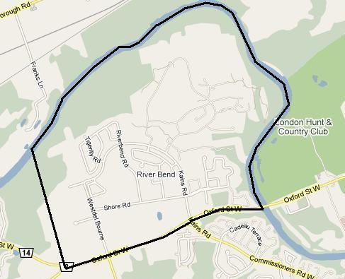 Riverbend Map London Ontario