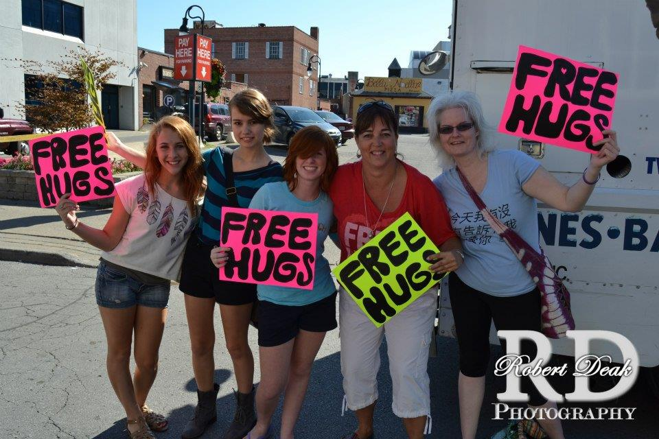 Free Hugs Niagara - Sally Dollar - Click to Join