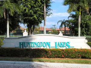 Huntington Lakes Naples Fl community sign