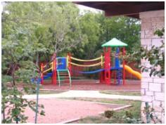 The playscape at the community center in Whispering Hollow subdivision in Buda, TX!