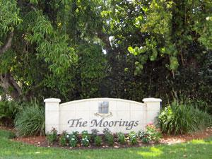 Moorings Naples Fl neighborhood entrance sign