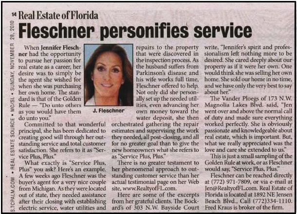 Jen Fleschner of Real Estate of Florida