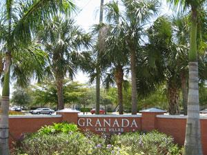 Granada Lakes Naples Fl community sign