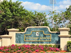 Heritage Greens Naples Fl community sign