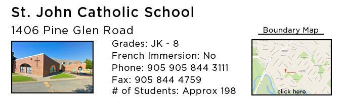 st john catholic school oakville