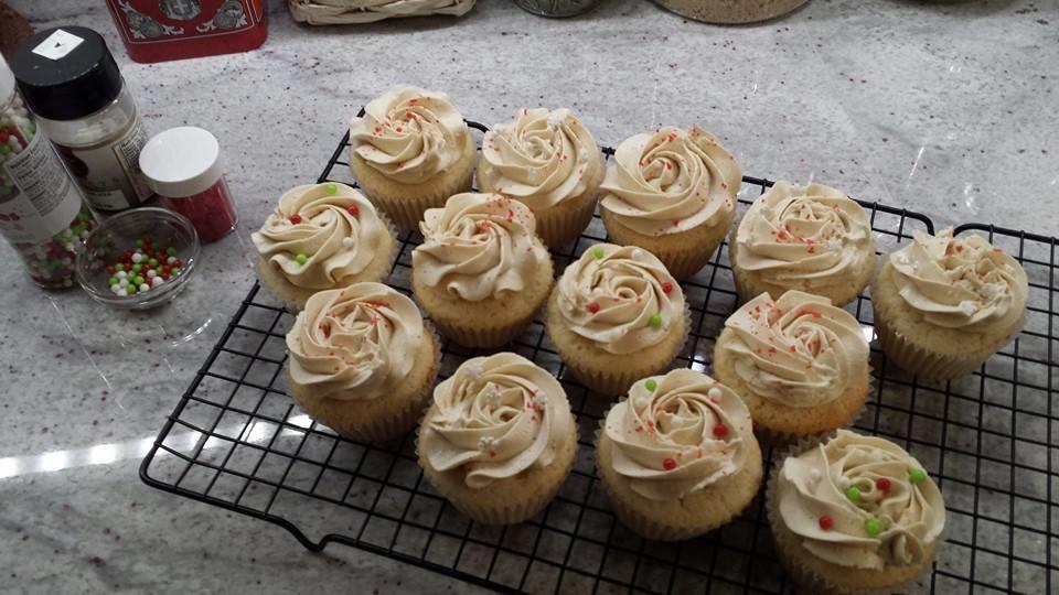 "Marie Paule""s Vanilla Butter Cupcakes with Austrian Caramel Buttercream"