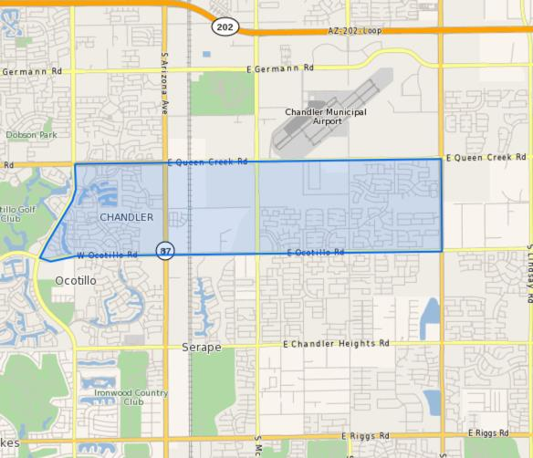 Basha_Elementary_School_Homes_for_Sale Boundary Map