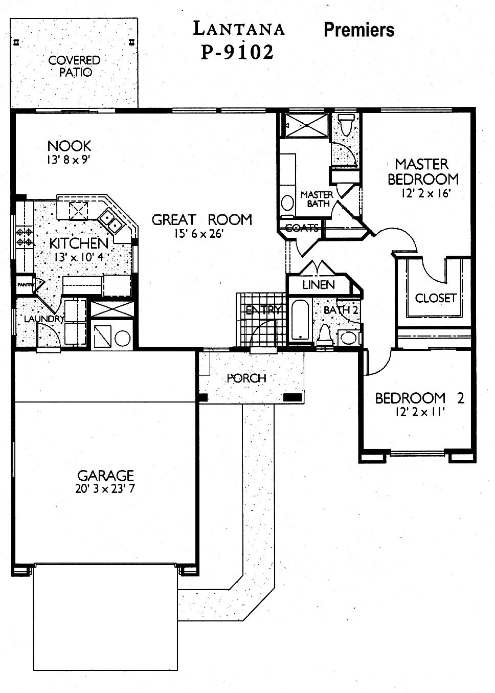 Sun City Grand Lantana floor plan, Del Webb Sun City Grand Floor Plan Model Home House Plans Floorplans Models in Surprise Phoenix Arizona AZ Ken Meade Realty Kathy Anderson