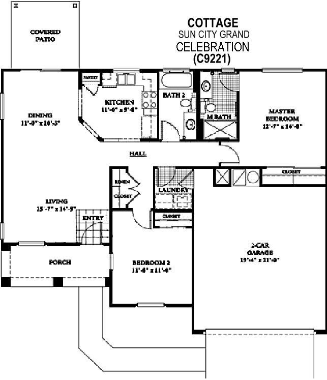 Sun City Grand Celebration floor plan, Del Webb Sun City Grand Floor Plan Model Home House Plans Floorplans Models in Surprise Phoenix Arizona AZ Ken Meade Realty Kathy Anderson