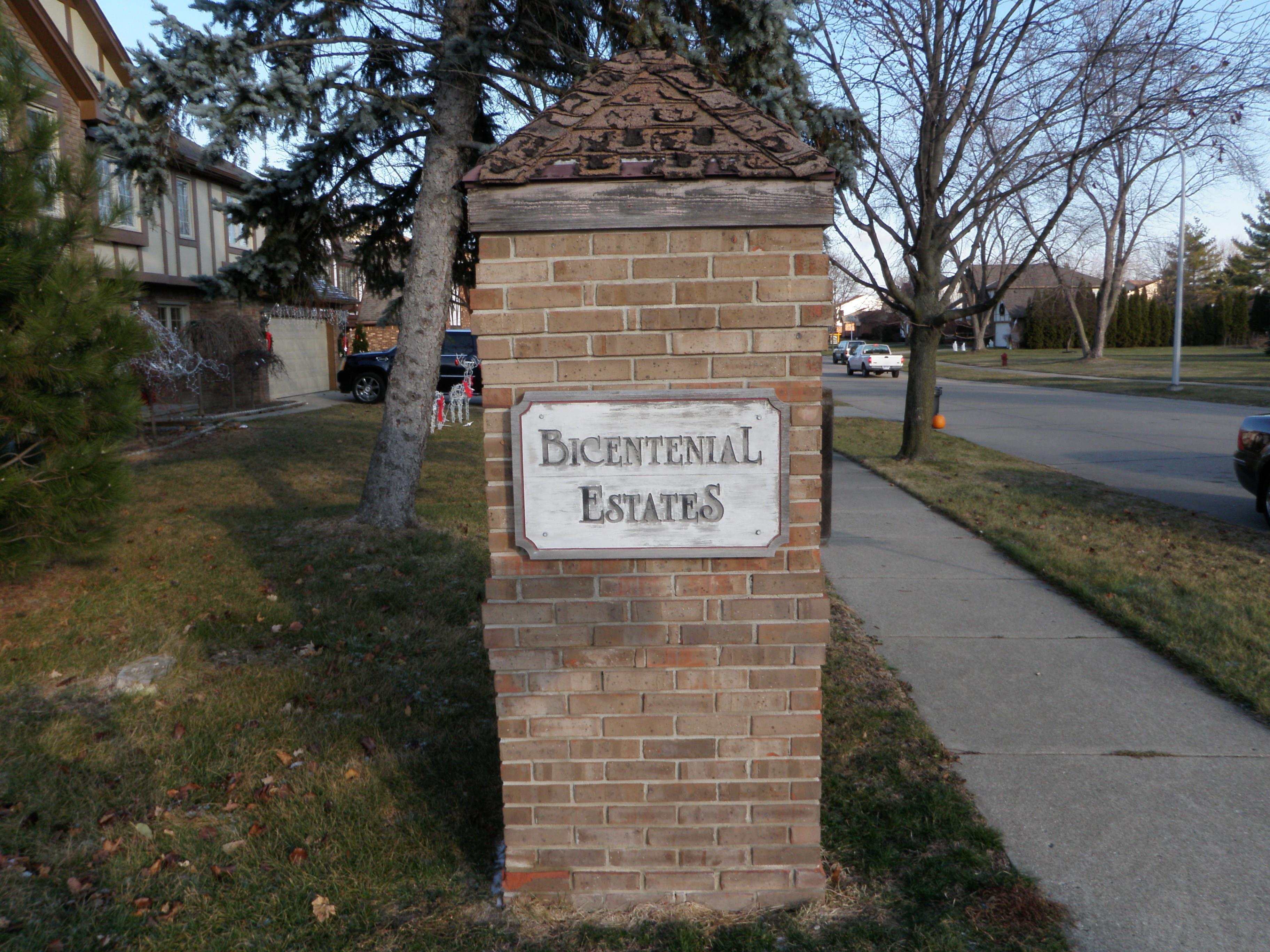 Bicentennial Estates Livonia Michigan Entrance