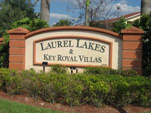 Laurel Lakes Naples Fl sign