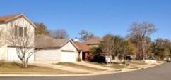 A view of the homes in the Waterloo/Overland Park neighborhood in South Austin, Texas.