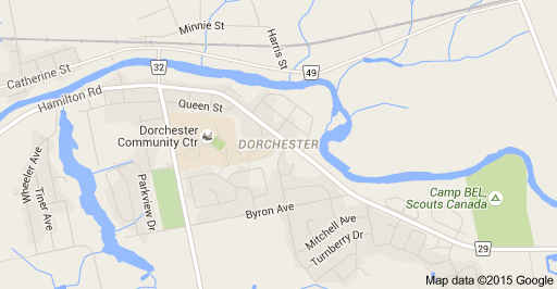 Dorchester Ontario Map