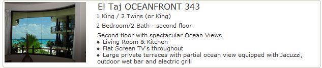 El Taj Oceanfront 343