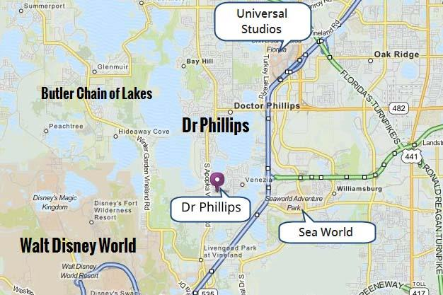 Dr Phillips Area Map