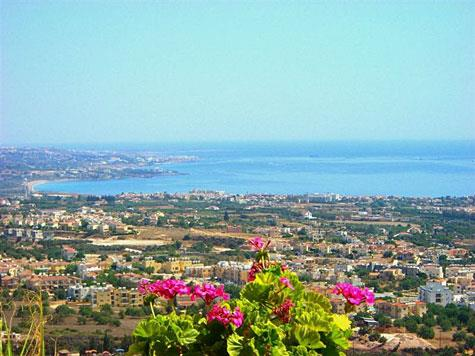 View of Paphos coast from Peyia propertyjavascript:void(0)