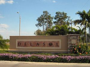 Delasol Naples Fl entrance sign