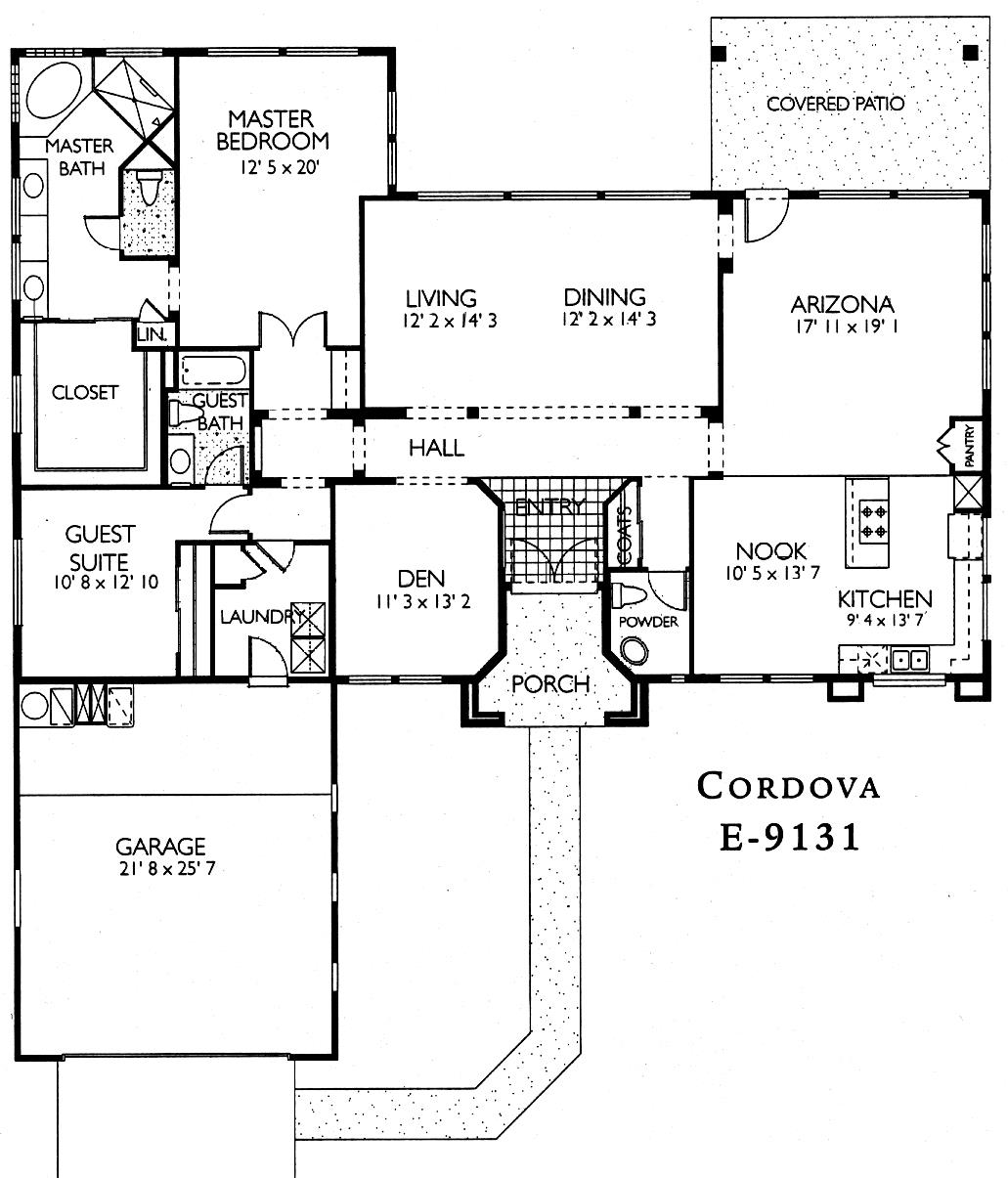 Sun City Grand Cordova floor plan, Del Webb Sun City Grand Floor Plan Model Home House Plans Floorplans Models in Surprise Phoenix Arizona AZ Ken Meade Realty Kathy Anderson
