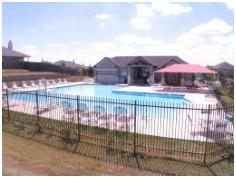 The pool at the Amberwood community center.