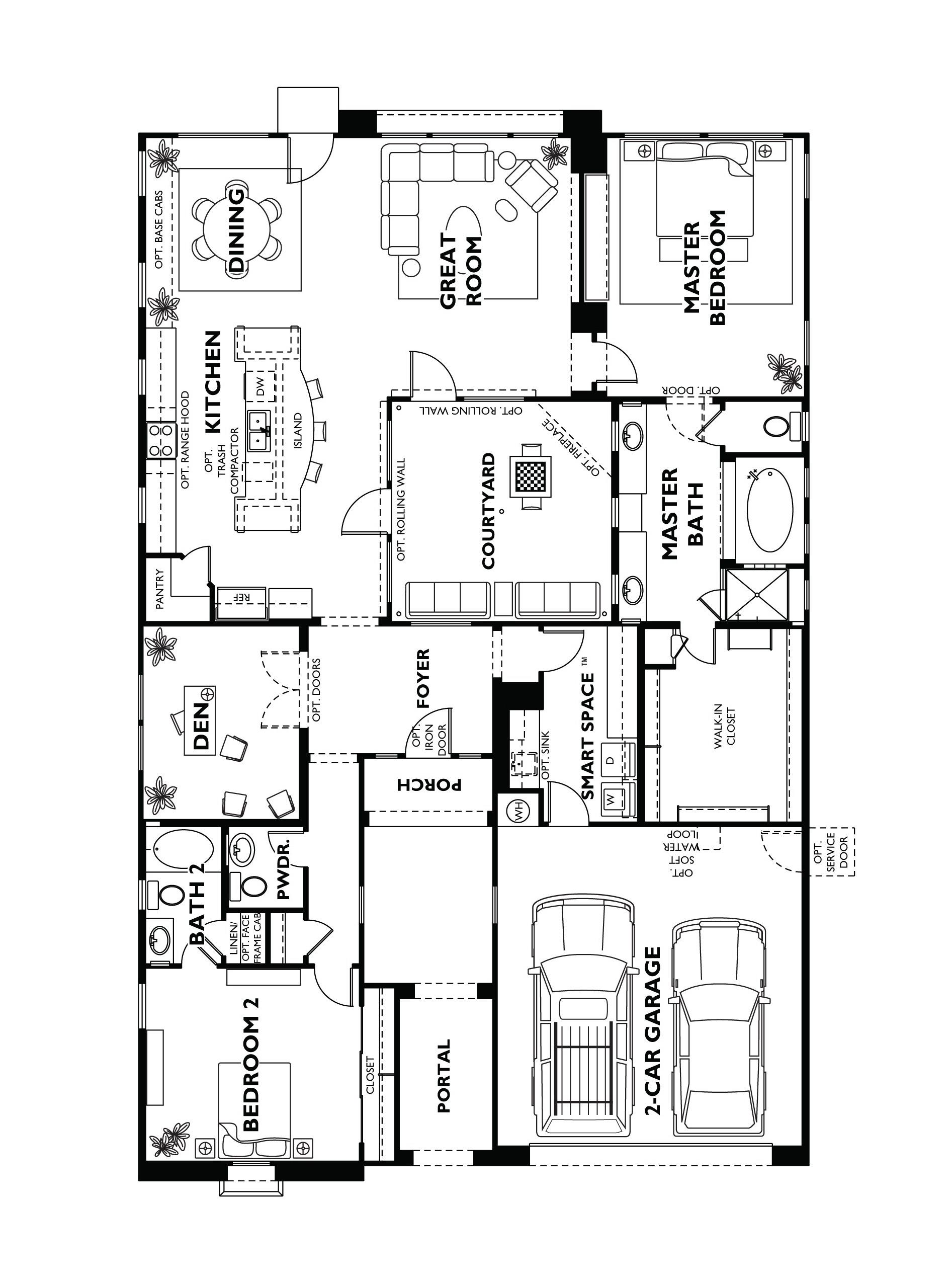 Trilogy at Vistancia Positano Floor Plan Model Home