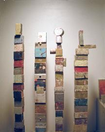 Artwork of Jan & Gus Miller - Blocks Tall Detail