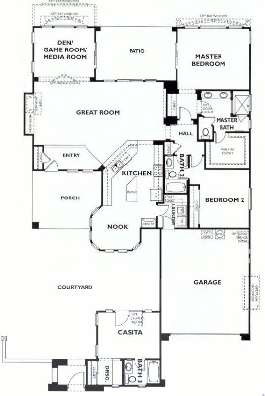 Trilogy at vistancia novus floor plan model with casita for Casita home plans