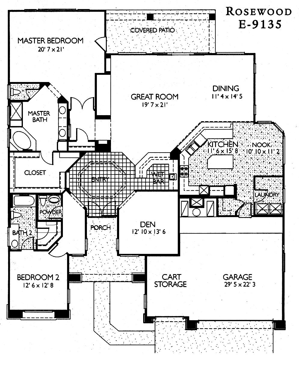 Sun City Grand Rosewood floor plan, Del Webb Sun City Grand Floor Plan Model Home House Plans Floorplans Models in Surprise Phoenix Arizona AZ Ken Meade Realty Kathy Anderson
