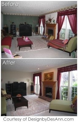 Real Estate Home Staging - Before and After Pics - Avon, Avon Lake, Lorain County Ohio