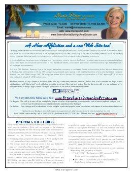 Marie's Southwest FL Real Estate Newsletter