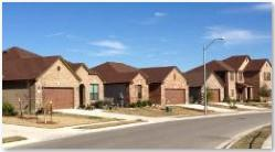 A view of the homes in the Lakes at Northtown subdivision.
