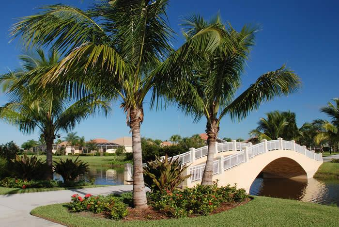 Bridges and Lakes in Village Walk, Bonita Springs, FL