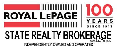 Lisa Tollis, Sales Representative Royal LePage State Realty, Brokerage. Hamilton Ontario