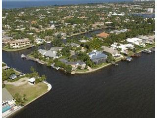Aqualane Shores Naples Fl aerial view