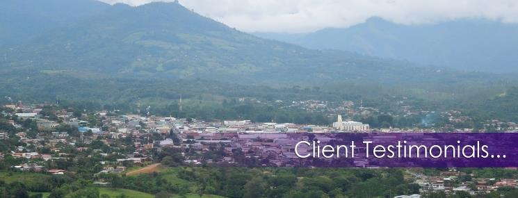 Client Testimonials - Dominical Property, S.R.L.