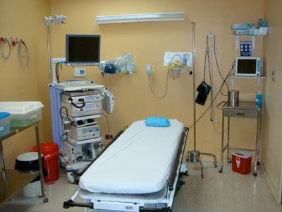 Medical facilities at CIMA Hospital in Guanacaste Costa Rica