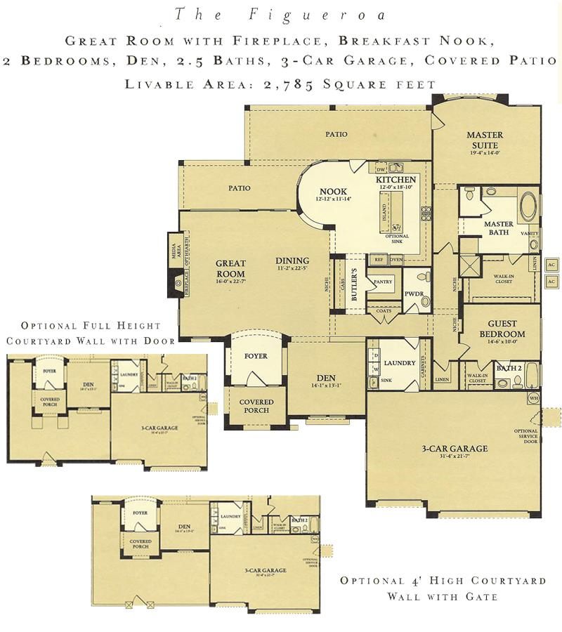 Corte Bella Figueroa floor plan model