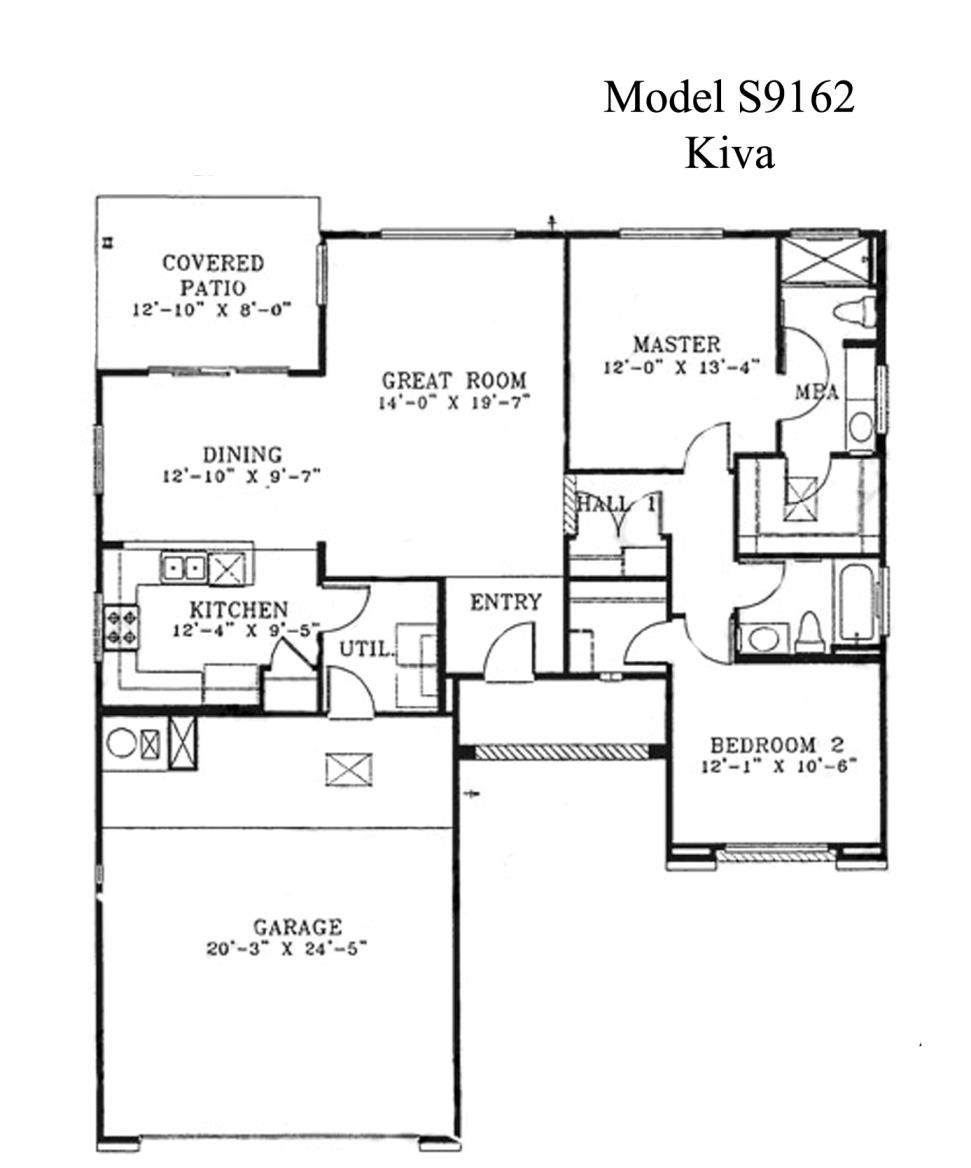 Sun City Grand Kiva floor plan, Del Webb Sun City Grand Floor Plan Model Home House Plans Floorplans Models in Surprise Phoenix Arizona AZ Ken Meade Realty Kathy Anderson