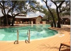 Photo of the new swim center in the Southwest Austin Ridgeview subdivision.
