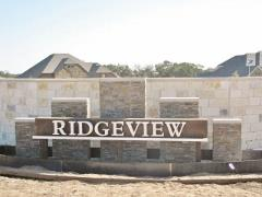 Sign at the Ridgeview neighborhood entry