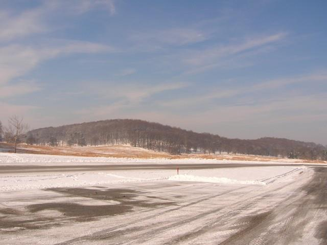 Parking lot at Valley Forge covered with snow