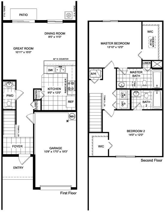 Martins Crossing Floor Plans | Townhomes