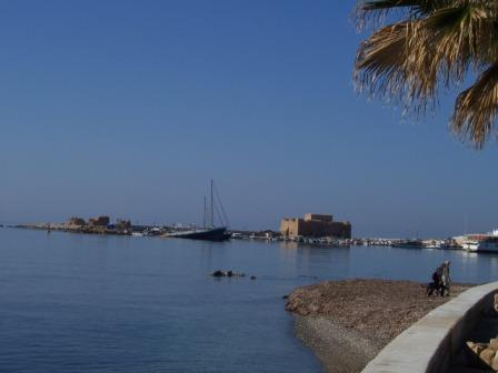 Paphos Castle at the Pafos Harbour in Cyprus