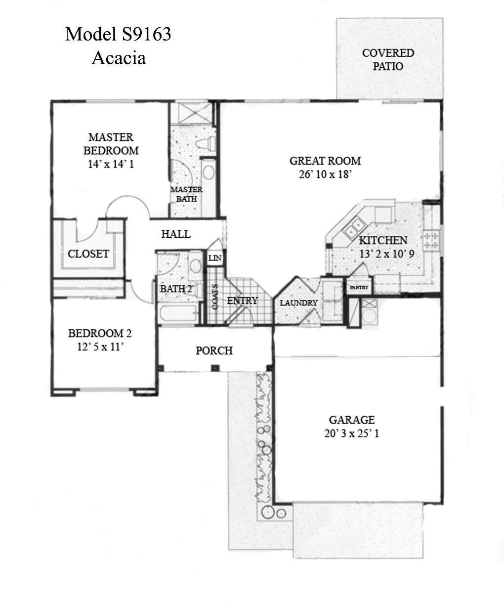 Sun City Grand Acacia floor plan, Del Webb Sun City Grand Floor Plan Model Home House Plans Floorplans Models in Surprise Phoenix Arizona AZ Ken Meade Realty Kathy Anderson