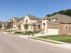A view of new homes in the Bridges of/at Bear Creek
