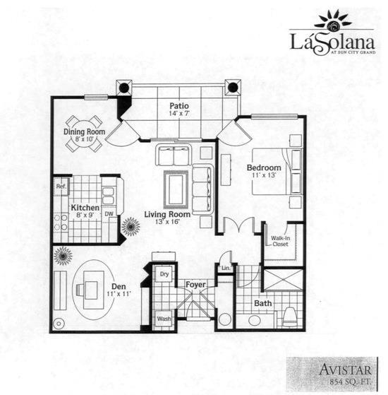 Sun City Grand La Solana Avistar Condo Floor Plan Model Home House Plans Floorplans Models Del Webb Surprise Phoenix Arizona Az Ken Meade Realty Kathy Anderson